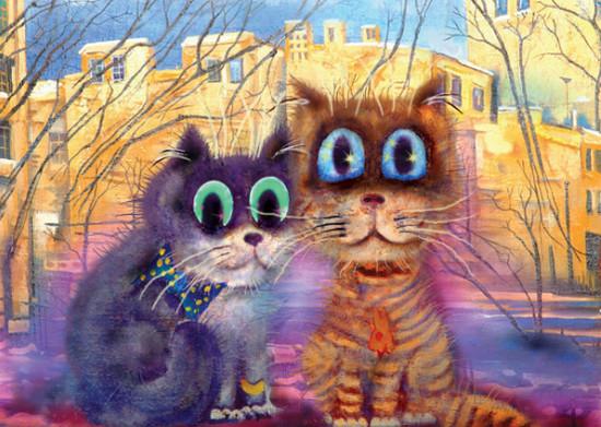 коты в картинах художников